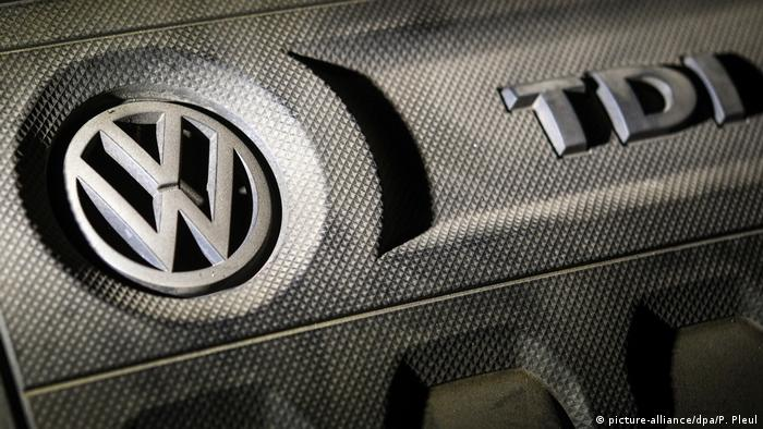 Volkswagen badge on the case of Golf engine case
