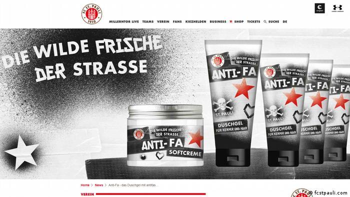 St. Pauli's shower gel and cream