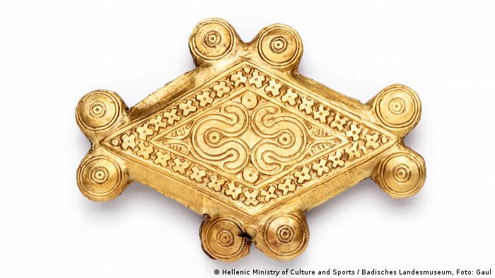 Goldener Knopf - Agraffe (Hellenic Ministry of Culture and Sports / Badisches Landesmuseum, Foto: Gaul)