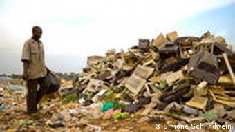 Discarded electronics in Africa