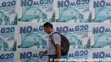 November 21, 2018 - Buenos Aires, Buenos Aires, Argentina - Posters calling for a protest against the G20 Leaders Summit are seen in downtown Buenos Aires. On November 20 and December 1, 2018, the G20 Presidents will meet in Buenos Aires |