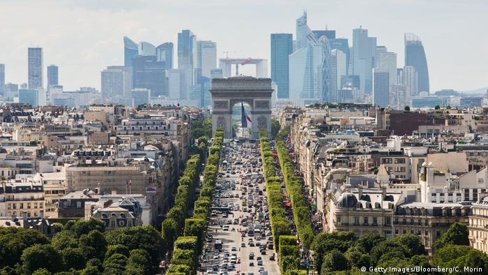 Vista aérea de París, Francia.