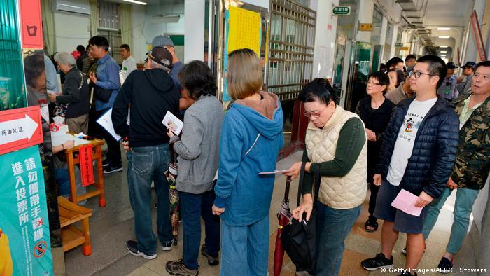 Taiwan | Abstimmung | Unabhängigkeit (Getty Images/AFP/C. Stowers)
