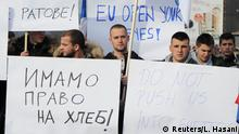Protest in Rudare, Kosovo
