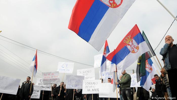 Protest in Rudare, Kosovo