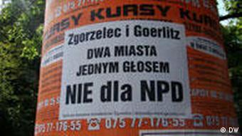 Anty-NPD plakat w Zgorzelcu