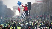 Gilets jaunes Proteste gegen Erhöhung der Benzinpreise in Frankreich