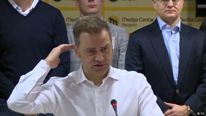 Serbien Borko Stefanovi Vorsitzender Oppositionspartei Levica Srbije (N1)