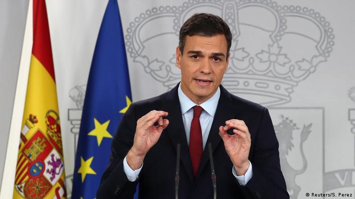 Spanien Statement Premierminister Pedro Sanchez in Madrid