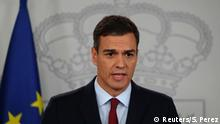 Spanien Statement Premierminister Pedro Sanchez in Madrid
