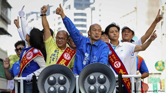 Taiwan Kommunalwahlen in Kaohsiung | Han Kuo-Yu (picture-alliance/AP Photo)