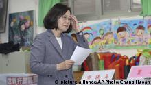 Taiwan Kommunalwahlen in Taipei   Präsidentin Tsai Ing-Wen