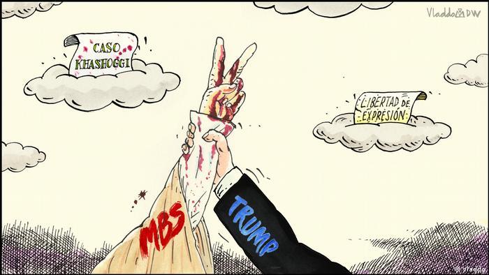Karikatur von Vladdo Khashoggi und Trump