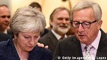 Belgien Brüssel EU England Brexit-Verhandlungen May und Juncker