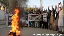Pakistan Protesten in Peshawar nach Selbstmordattentat in Orakzai