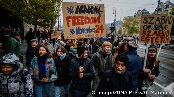 Ungarn Proteste in Budapest