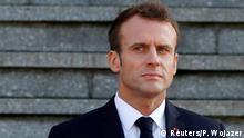 Frankreich Emmanuel Macron in Albert