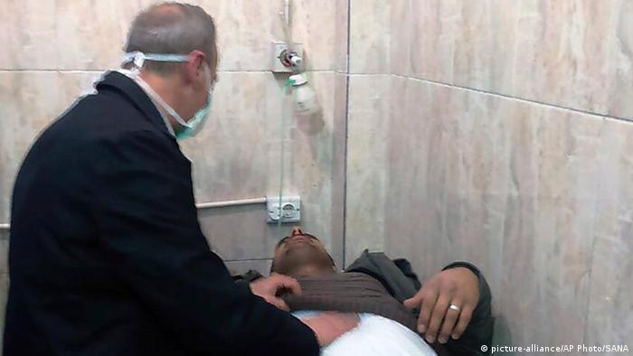 Mais de 100 vítimas foram tratadas com sintomas de ataque com gás de cloro