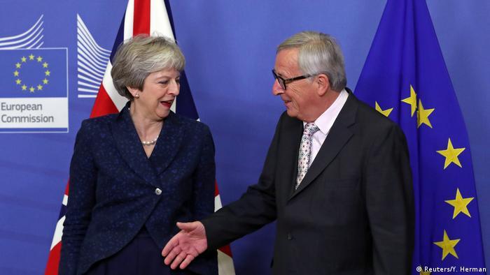 Die britische Premierministerin Theresa May und EU-Kommissionspräsident Jean-Claude Juncker (Foto: Reuters/Y. Herman)