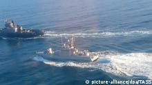 Russland - Drei Schiffe der ukrainischen Marine haben die russische Grenze illegal überschritten.