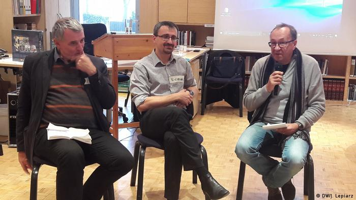 Od l.prof. Hans.Juergen Boemelburg, Dominik Pick i prof. Robert Traba w Centrum Badań Historycznych PAN w Berlinie