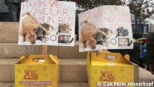 ****Achtung: Verwendung nur zur abgesprochenen Berichterstattung Türkei Istanbul - Proteste gegen geplanten Gesetztesentwurf zum Thema Tierschutz