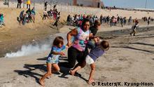 USA Mexiko l Tränengas gegen Migranten an der Grenze