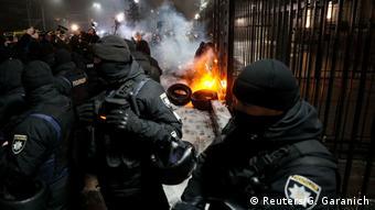 Протесты перед посольством РФ в Киеве 25 ноября