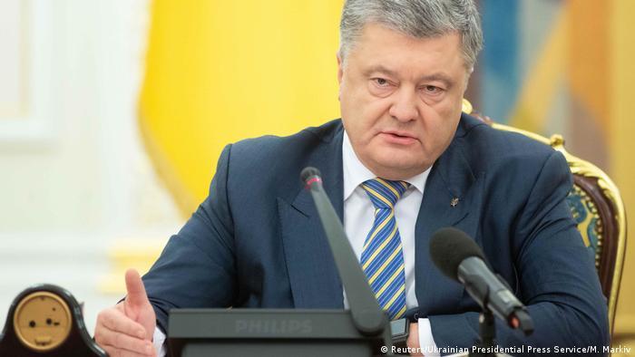 Der ukrainische Staatschef Petro Poroschenko bei der Sitzung des nationalen Sicherheitsrats in Kiew (Foto: Reuters/Ukrainian Presidential Press Service/M. Markiv)