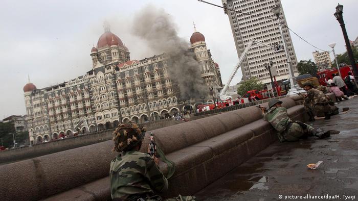 Taj Hotel Mumbai during 2008 terror attacks