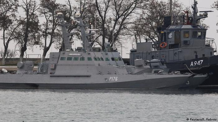 Захваченные украинские суда в порту Керчи