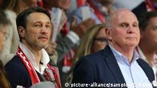 Fußball Trainer Kovac und Hoeneß