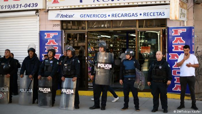 Mexiko Tijuana Migranten wollen in USA