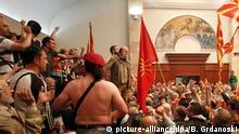 Erstürmung des Parlaments in Mazedonien