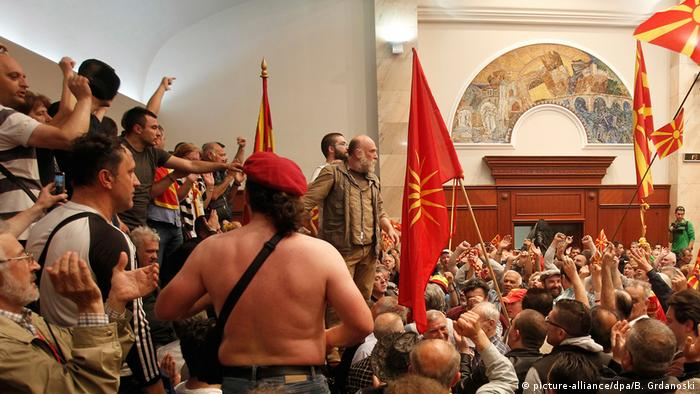 Storming of Macedonian parliament
