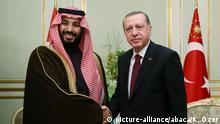 Saudi-Arabien Kronprinz MbS und Erdogan