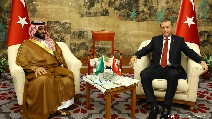 Saudi Crown Prince and Recep Erdogan