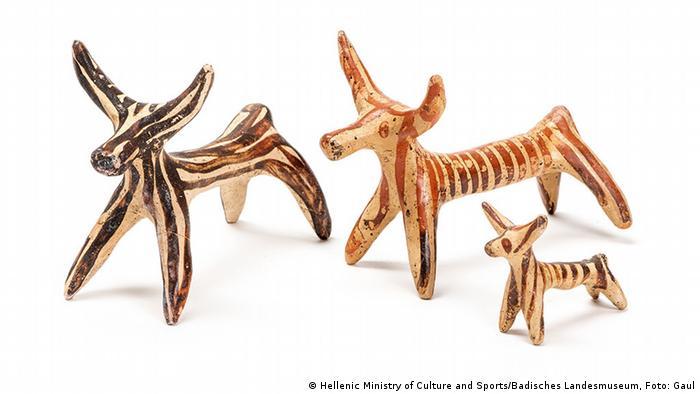 Фигурки быков XIII века до н.э.