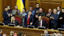 Ukraine Kiew Parlamentssitzung Verkündung Kriegsrecht