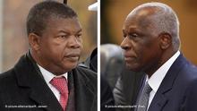 links: ARCHIV- Der angolanische Verteidigungsminister Joao Manuel Goncalves Lourenco (l) steht beim Empfang mit militärischen Ehren am 24.11.2014 in Berlin neben einem Soldaten des Wachbataillons. (zu Ende einer Ära: Afrikas dienstältester Präsident tritt nicht mehr an vom 22.08.2017) Foto: Rainer Jensen/dpa +++(c) dpa - Bildfunk+++   Verwendung weltweit rechts: epa04790424 Angolan President Jose Eduardo Dos Santos (2-R) listens to Chinese President Xi Jinping (not in picture) at the Great Hall of the People in Beijing, China, 09 June 2015. Jose Eduardo Dos Santos is on a visit to China from June 8 to 13. EPA/WANG ZHAO / POOL +++(c) dpa - Bildfunk+++  
