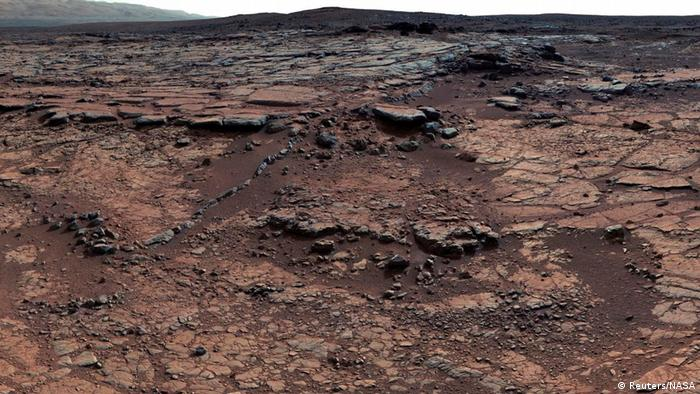 A picture of the Mars surface taken by Nasa's rover Curiosity (Reuters/NASA)