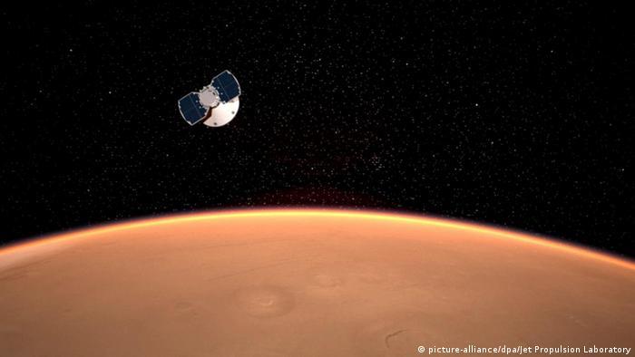 NASA-Robot lander «InSight»on approach to Mars