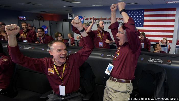 NASA scientists jump for joy