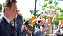FILE PHOTO: Former Trump campaign manager Paul Manafort arrives for arraignment on a third superseding indictment against him by Special Counsel Robert Mueller on charges of witness tampering, at U.S. District Court in Washington, U.S. June 15, 2018. REUTERS/Jonathan Ernst/File Photo