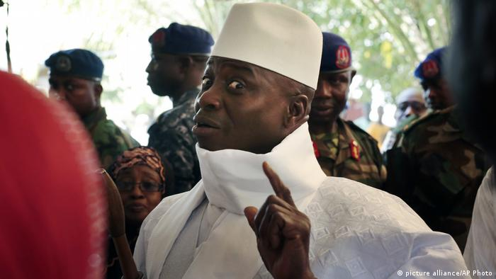 Gambia's former President Yahya Jammeh (picture alliance/AP photo)