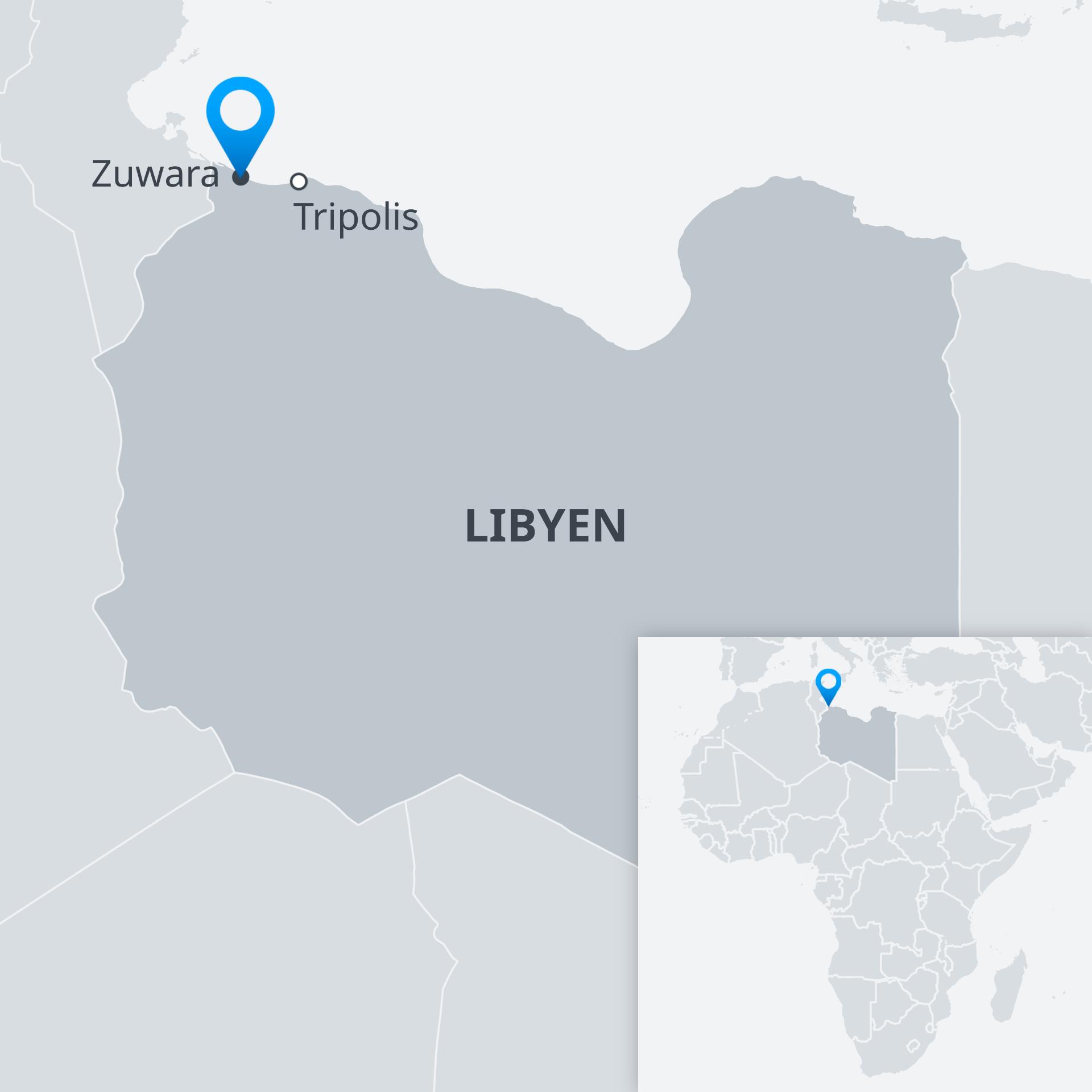 Karte Libyen Zuwara DE
