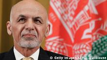 Schweiz - Afghanistan Konferenz in Genf: Ashraf Ghani (Getty Images/AFP/D. Balibiouse)