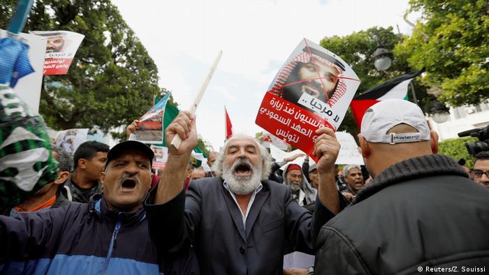 Tunesien Proteste gegen Besuch Saudi Kronprinz Mohammed bin Salman