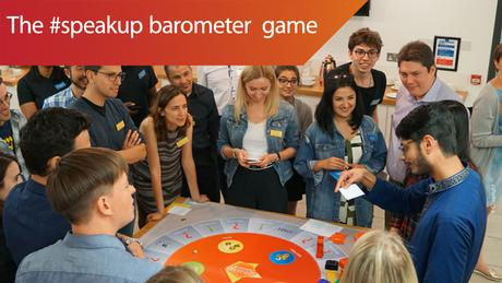 Landing page #speakup barometer game