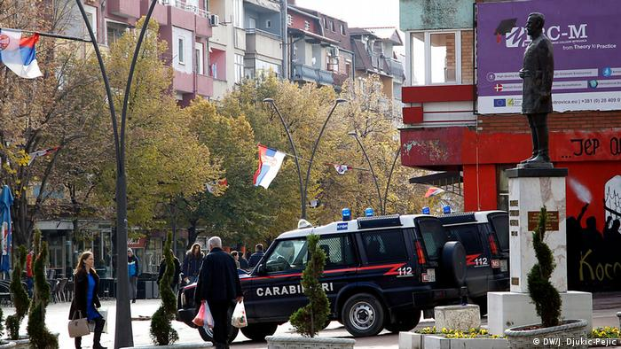 Полиция KFOR на улицах Митровицы (фото из архива)